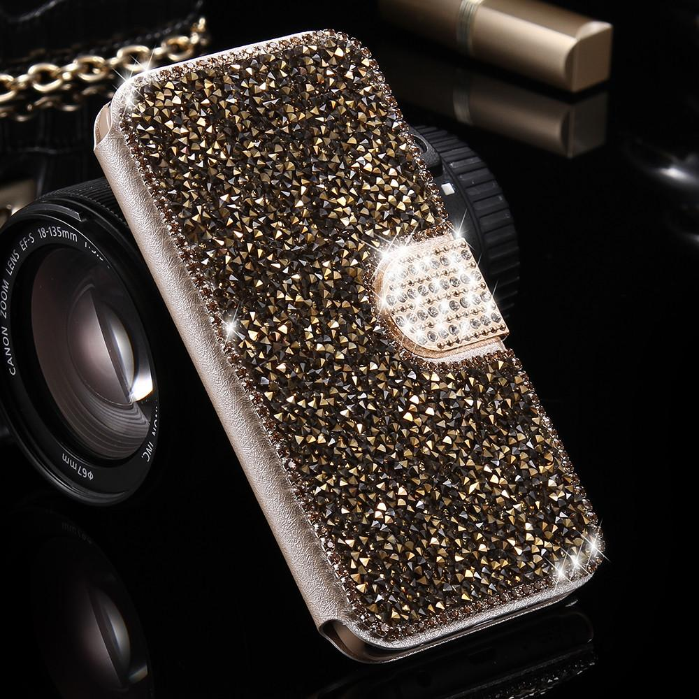 best sneakers 9e6cd 6b1a6 For Galaxy S7 Case S7 Edge Cover Luxury Bling Diamond Glitter Cases For  Samsung Galaxy S7 S7 Edge Women Wallet Flipleather Capa