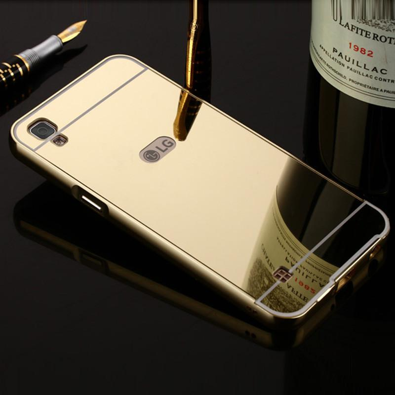 competitive price 6d0c5 ba3b4 For Lg X Power Case Cover Aluminum Phone Metal Frame Acrylic Back Cover For  Lg X Power K210 K220 K220d Mirror Cases Bumper Coque