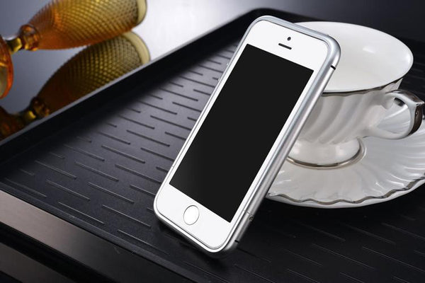 For Iphone Se Luxury Circle Arc Aluminum Metal Bumper For Iphone Se 5s 5 5g Case Mobile Phone Bags Cover Champagne For Iphone5s