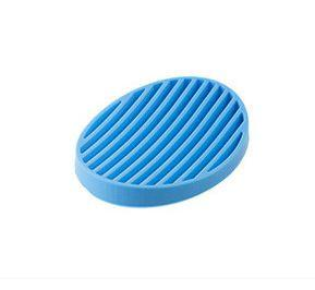 1pcs Candy Color Silicone Home Travel Soap Dishes Soap Holder Soap Box With Cover Bathroom Set Soap Dish 4 Color