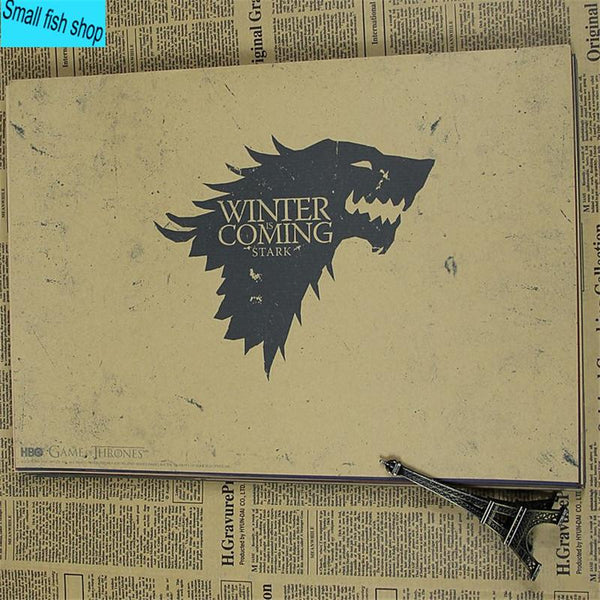 Game Of Thrones C Gather Kit Harington Home Furnishing Decoration Kraft Movie Poster Drawing Core Wall Stickers