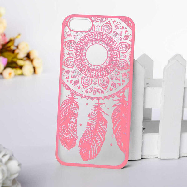 Hard Plastic Case Cover For Iphone55s For Iphone 55s 5 5s Se 6c 5se Dream Catcher Flower Pattern Plastic Retro Fashion Case