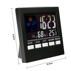 Lcd Digital Thermometer Hygrometer Indoor Electronic Temperature Humidity Meter Clock Weather Station