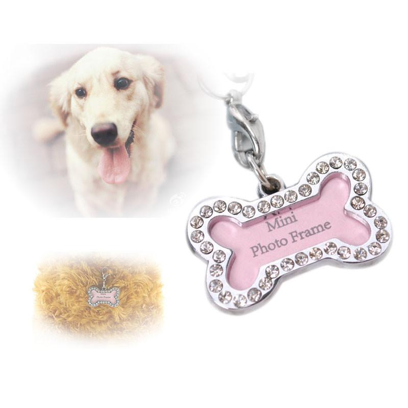 Pet Identifty Tag For Dog Cat Bone Style Pets Identity Card Pet Diamante Accessories For Cute Charm Decoration Pet3