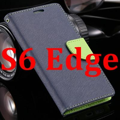 Hit Color Leather Card Slot Flip Case For Samsung Galaxy S6 G9200 S6 Edge G9250 S6 Edge Plus G928 Phone Cover Fashion Style