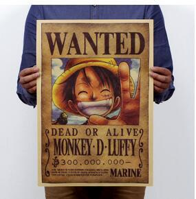 Home Decor Anime Posters Wall Stickers Vintage Paper Retro Miyazaki Movie Luffy Wanted Iron Man Poster For Children