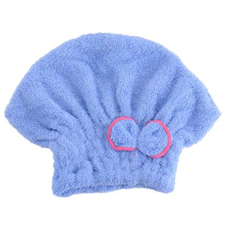 Home Textile Microfiber Solid Hair Turban Quickly Dry Hair Hat Wrapped Towel Bath 6 Colors