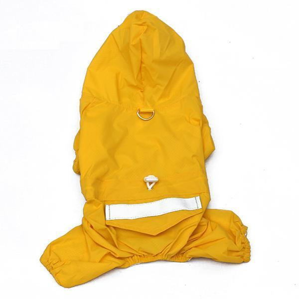 Pet Dog Rain Coat Clothes Dog Puppy Casual Waterproof Jacket Costumes Xs-xxl