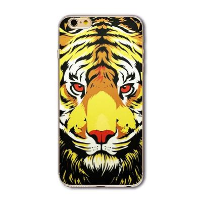 Silicon Soft Tpu Cover Cases For Apple Iphone 6 6s Case 4.7 Inch Cute Tiger Animals Protective Housing