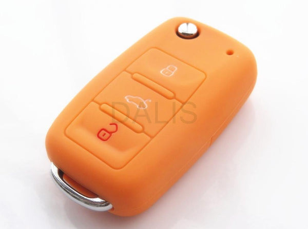 Silicone Car Key Cover Case Shell Fob For Vw Golf Bora Jetta Polo Passat Skoda Superb Octavia Fabia Seat Ibiza Leon