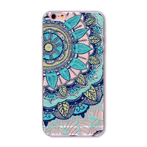 I6 For Iphone 6 6s Phone Case Cover Fashion Dress Girl Cute Emoji Floral Paisley Flower Cat Transparent Soft Silicon Capa Coque