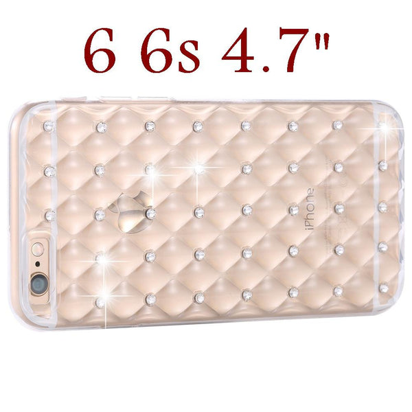 Kisscase For Iphone 6s 6 Plus Case Luxury Glitter Diamond Rhinestone Case For Iphone 6 6s Plus Soft Silicone Back Cover Capa