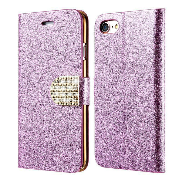 Kisscase Wallet Pouch Glitter Pu Leather Case For Iphone 7 7 Plus 6 6s 6 Plus Bling Diamond Cover For Iphone 7 7 Plus 6 6s Plus