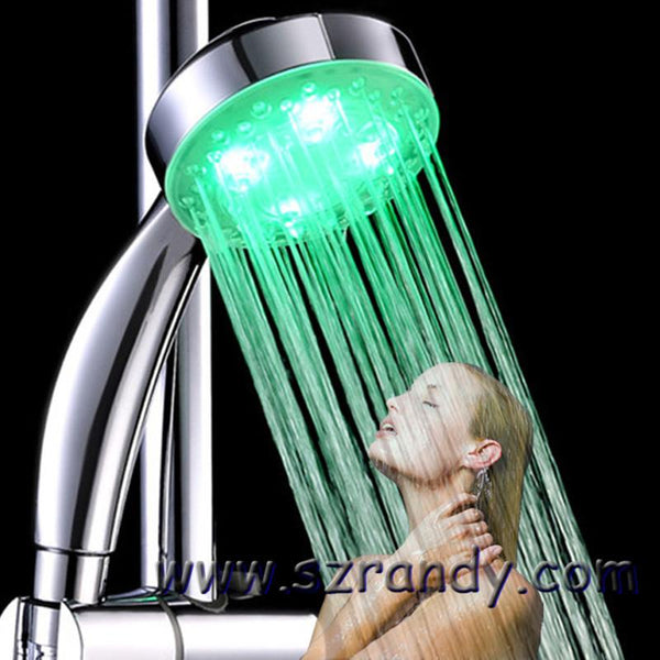 Led Shower Head 2016 Brand Romantic 7 Colors Changing Or Temperature Control 3 Color Water-saving Bath Sprinkler Bathroom