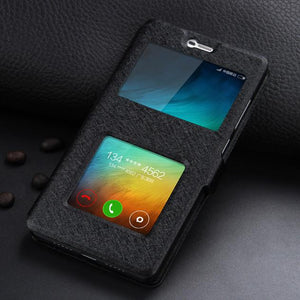 Leather Case For Xiaomi Redmi 3 Pro Xiaomi Redmi 3s Phone With Window View Protector Flip Case