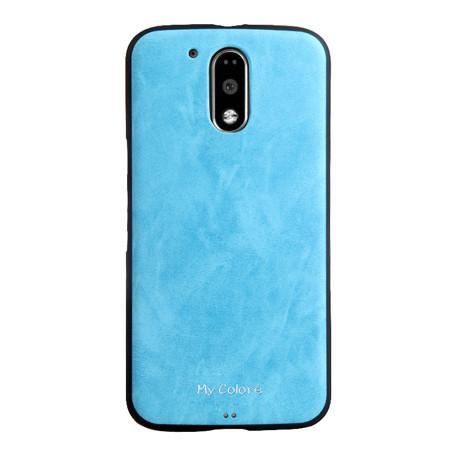 Luxury Brand Business Leather + Tpu Soft Silicone Back Case Skin Cover Mobile Phone Cases For Motorola Moto G4 Plus G4plus 5.5'