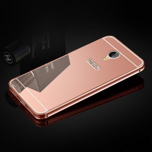 Mirror Aluminum Case For Meizu M3s Mini 5.0 Inch Luxury Metal Frame Ultra Slim Acrylic Phone Back Cover For Meizu M3 Note 5.5