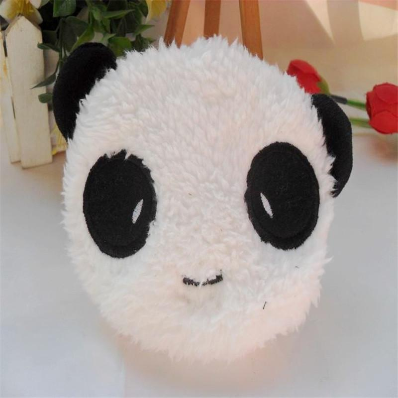 Modern Design Kawaii Cute Style Panda Soft Plush Pencil Case Pen Pocket Cosmetic Makeup Bag Pouch Top Quality Fit For Girls