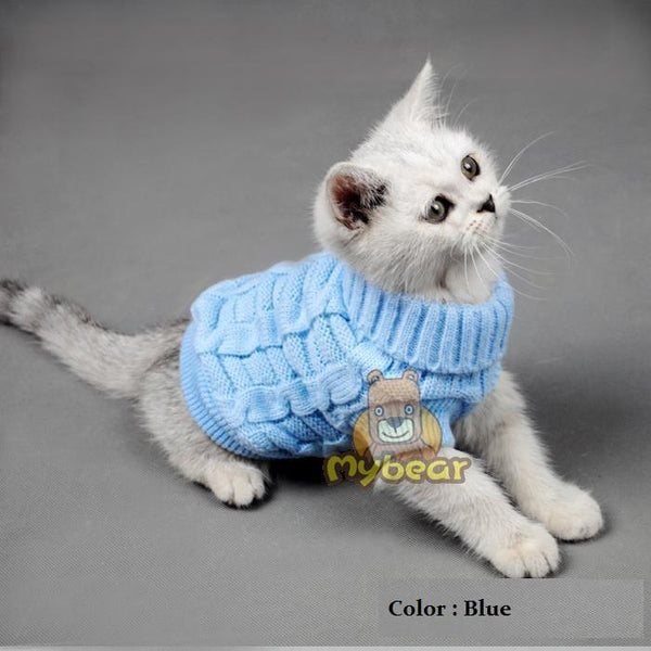 Spagetti Color Warm Autumn Winter Dog Cat Sweater Pet Jumper Cat Clothes For Small Cat Dog Pets