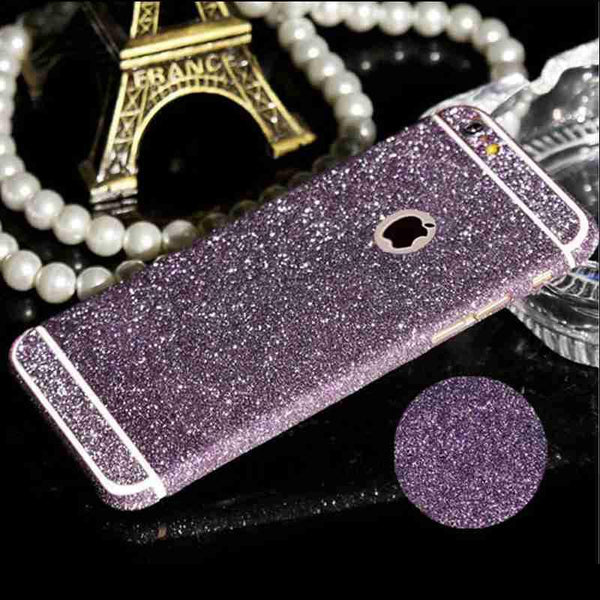 Sparkling Rhinestone Deco Phone 9 Colors Bling Diamond Sticker Film For Apple Iphone 5 5s Se Full Body Glitter Sticker