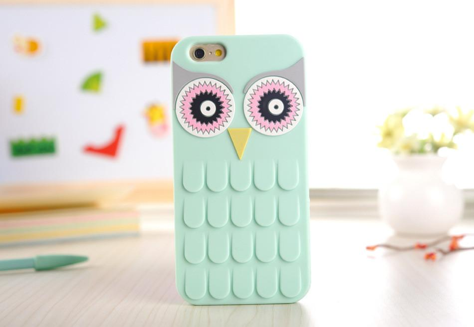 3d Cute Cartoon Owl Soft Silicon Rubber Phone Case Cover For Apple Iphone 7 7plus 4 4s 4g 5 5s 5g 6 6s 6 Plus 5.5