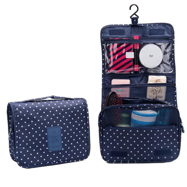 Portable Cosmetic Makeup Storage Bag Folding Hanging Travel Toiletry Wash Case Clothing Organizer Pouch