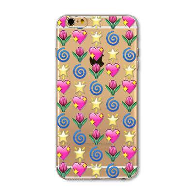 Case For Apple Iphone 6 6s Plus 6plus 4 4s 5 5s Se 5c Funny Smile Face Facebook Emoji Painted Soft Tpu Silicon Cases Cover