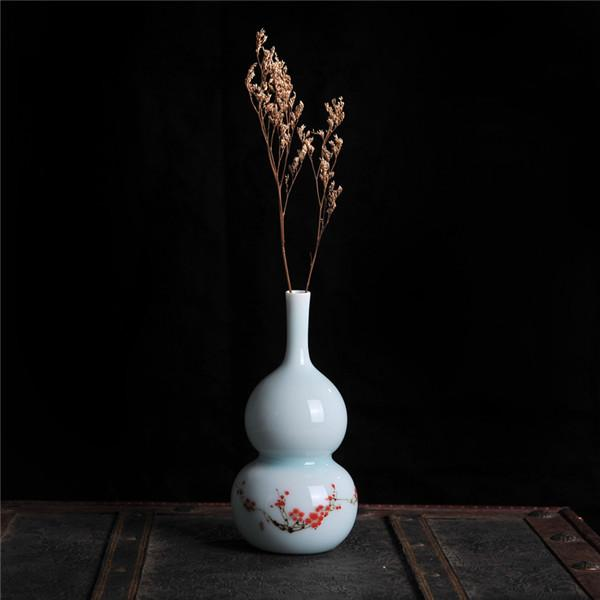 Classical Post-modern Home Decor High-grade Ceramic Handpainted Small Table Flower Vase