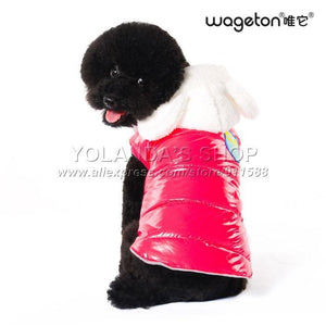 Clothing Wageton Fashion Dog Clothes And Puppy Cat Warm Coat Costumes -4 Colors Winter Apparel For Pets