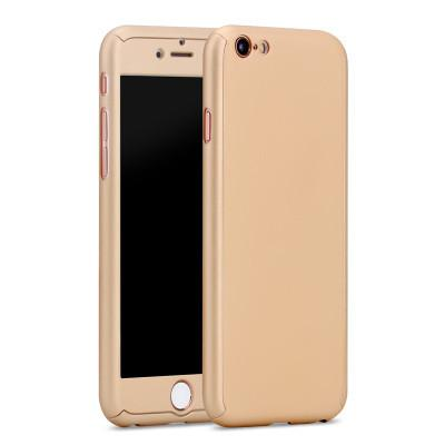 Hybrid 360 Case Hard Ultra Thin Capa Cover For Fundas Iphone 7 7plus 6 6s Plus 5g 5s Se Phone Case + Tempered Glass