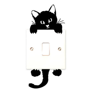 Qualified 2017 Viny Cat Wall Stickers Light Switch Art Baby Nursery Bedroom Decor Levert Dig6314