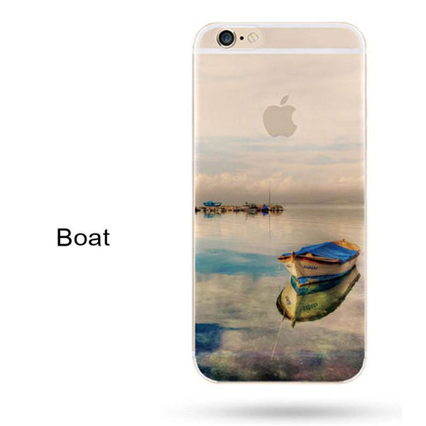 Est Fashion For Iphone 5s 7 6 6s Case Ultra Thin Soft Silicon Mountain Landscape For Iphone 7 6plus Case Phone Cover Cases
