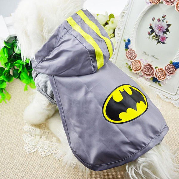 Pet Dog Coat Jacket Apparel Puppy Dog Clothes Fancy Dress Superman Batman Cosplay Pets Costume Breathable Jacket Dogs Coat