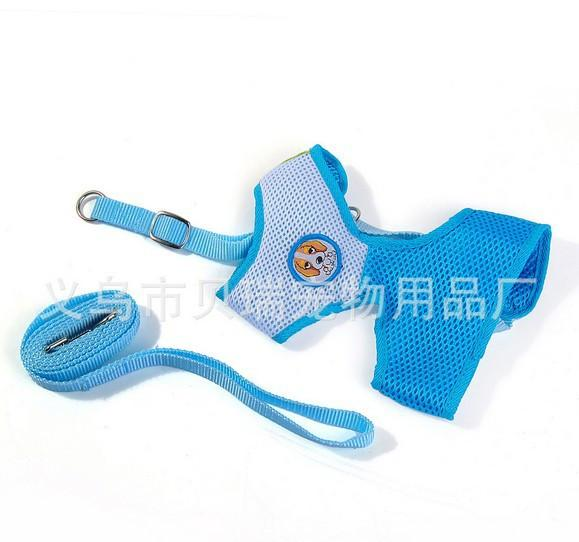 Pet Dogs Cat Leash Vest Mesh Breathe Adjustable Puppy Harness Clothes+leash Rope