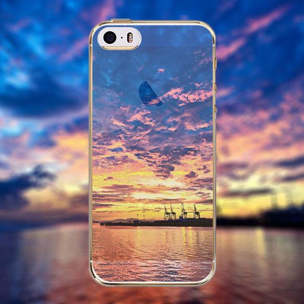 Phone Case For Apple Iphone 6 6s Beautiful City Mountain Ocean Tower Transparent Case Cover 6 Series Soft Tpu Crystal Back Cover