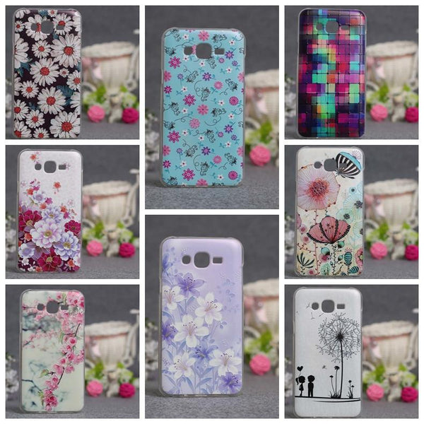 Phone funda For Samsung Galaxy j7 Case J7 2015 J7008 J700F Cover Case 3D Painting Soft Silicone Calling for Galaxy j 7 Cover bag