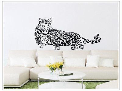 Removable Leopard Tiger Wall Sticker Diy Vinyl Art Quote Decal Kids Room Animal Decor