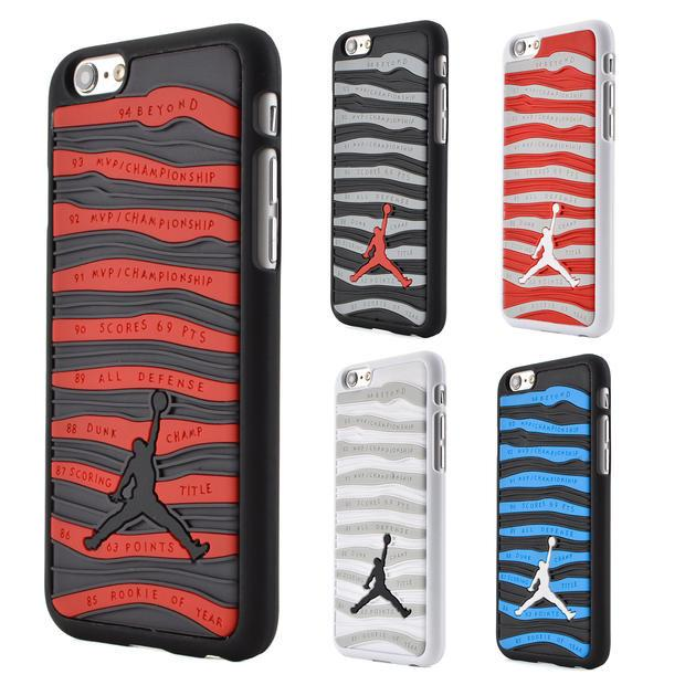 the latest bf1ca 9aa57 3d Air Jordan Phone Case For Iphone 6 Plus 5.5 Pvc Rubber Stripe Jumpman  Phone Back Cover For Iphone 6 4.7 Inch 5s Se