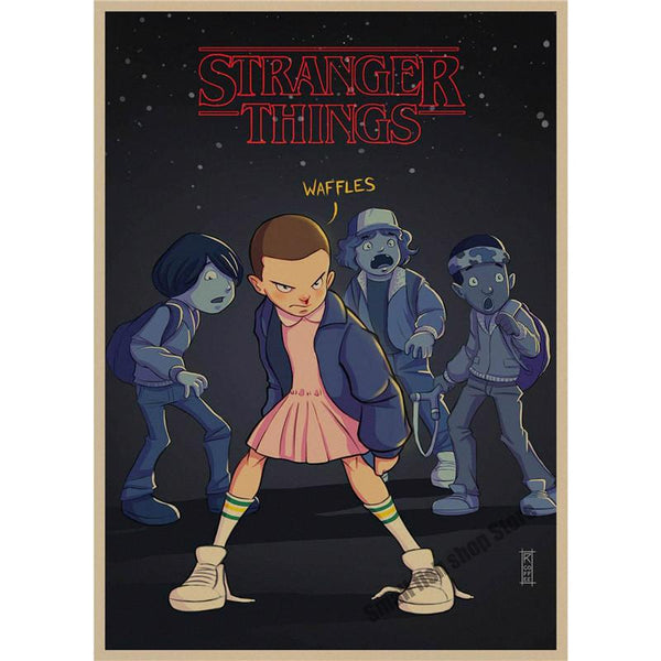 Stranger Things Retro Poster Retro Kraft Paper Bar Cafe Home Decor Painting Wall Sticker