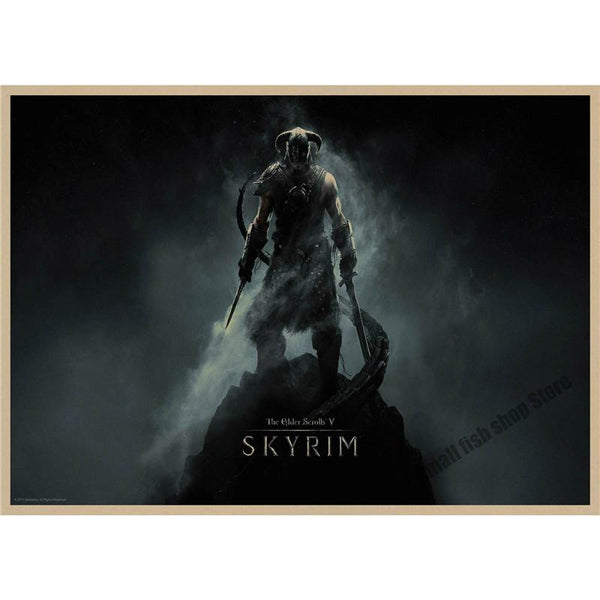 The Elder Scrolls V Skyrim Game Retro Poster Retro Kraft Paper Bar Cafe Home Decor Painting Wall Sticker