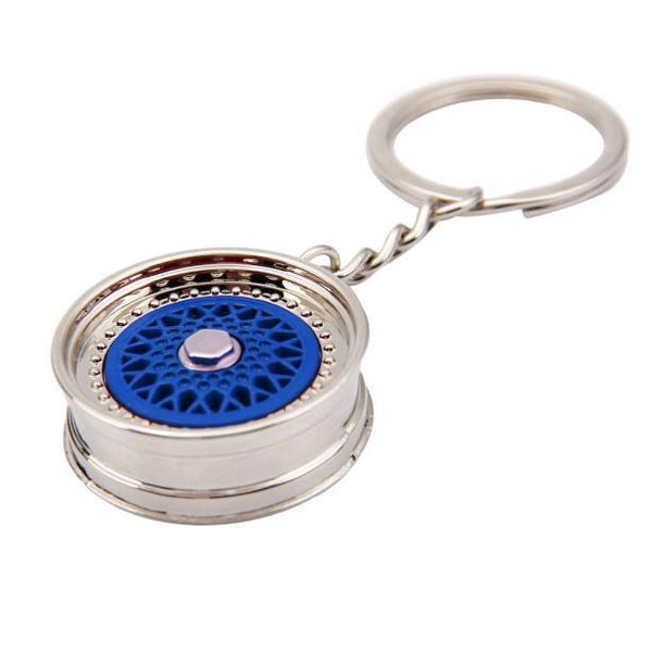 Tiptop Popular Creative Car Auto Metal Mini Wheel Rim Tyre Key Chain Keyring Nov9