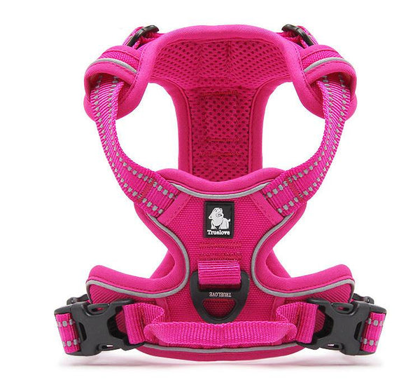 True Love Reflective Large Dog Harness Nylon Pet Training Vest With Handle For Medium Large Breeds Xs To Xl