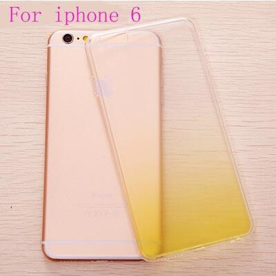Ultra Thin Cover Phone Cases For Iphone 5s Case For Iphone 5 Se 6 6s Plus Cute Candy Gradient Tpu Clear Transparent Capa Fundas