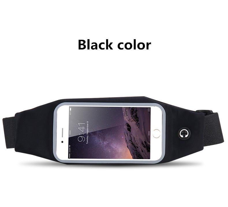 Universal 6 Inch Waterproof Sport Gym Running Waist Belt Pack Phone Case Bag Armband For Iphone 5 5s 6 6s 7 Plus Samsung S7