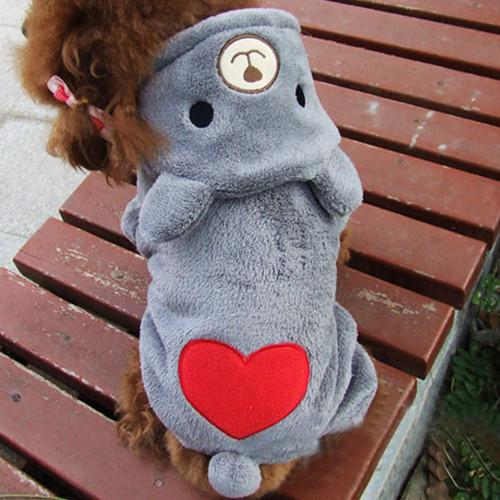 Warm Fleece Dog Costume Pet Hoodie Coat Autumn Winter Puppy Clothes Cute Jumpsuit Teddy Dogs Apparel Outfit 15
