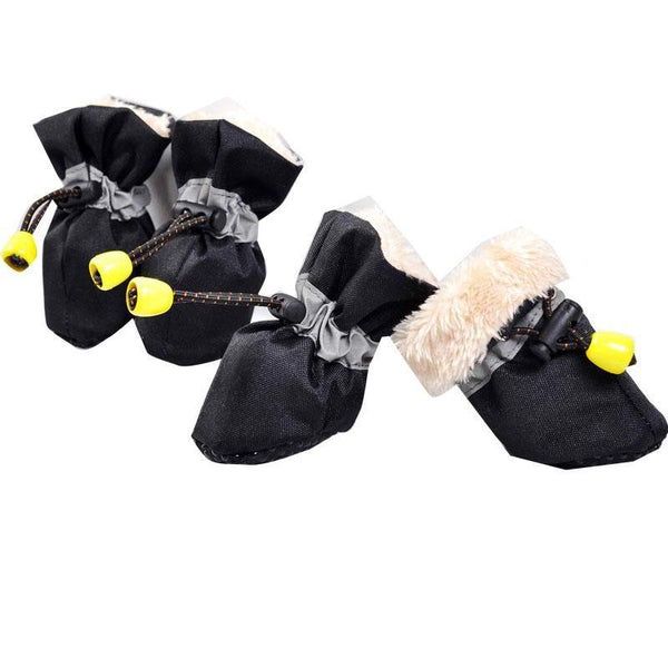 Winter Warm Pet Thick Dog Shoes 4pcs Set Footwear Waterproof Rain Boots Pet Products Dog Clothes Indoor Shoes
