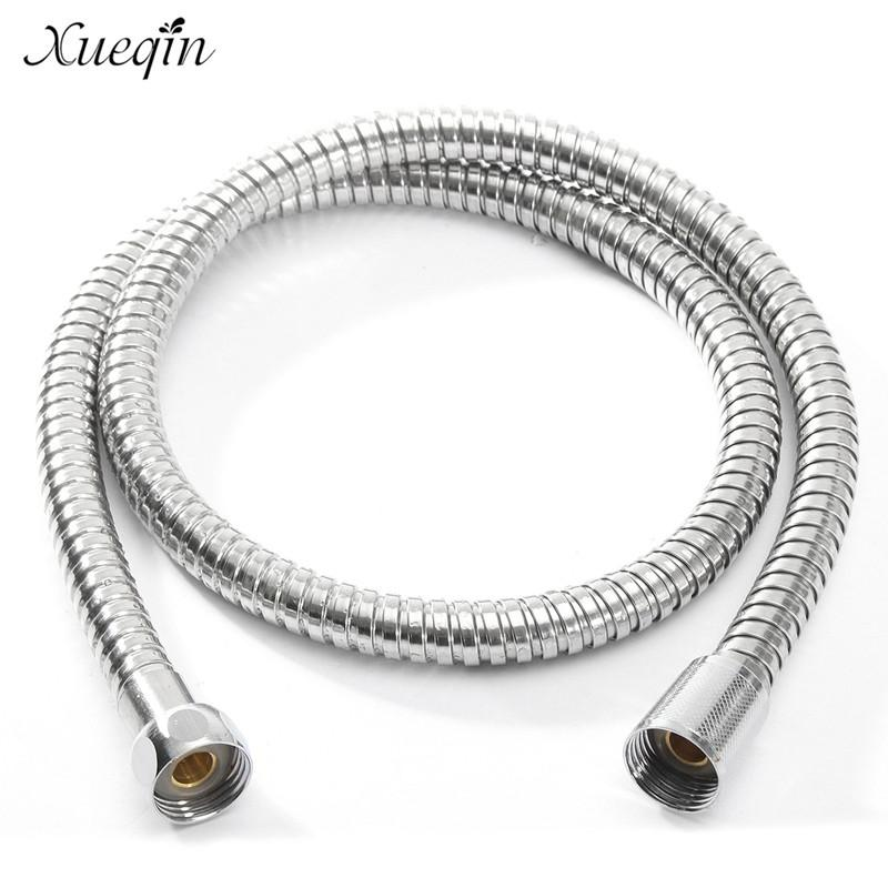 Xueqin 1m 1.5m 2m G1 2 Inch Flexible Shower Hose Stainless Steel Chrome Bathroom Water Head Showerhead Pipe