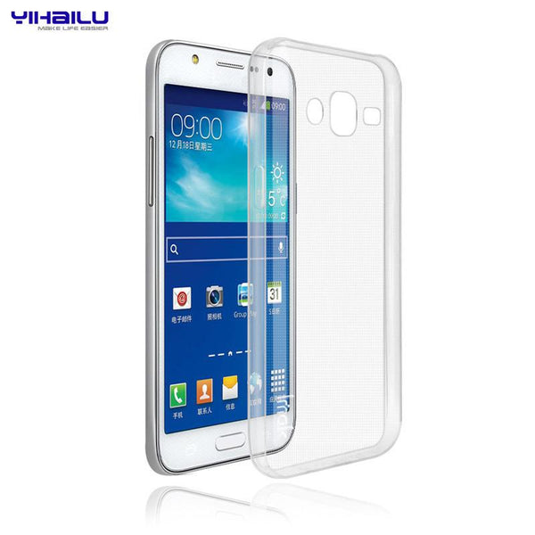 Yihailu For Samsung Galaxy 2015 A3 A5 A7 E5 E7 J1 J5 J7 TPU Phone Case 0.6mm Transparent Clear Ultra Thin Soft Cover