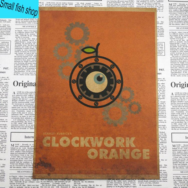 A Clockwork Orange Classic Movie Poster gather Home Furnishing decoration Kraft Movie Poster Drawing core Wall stickers