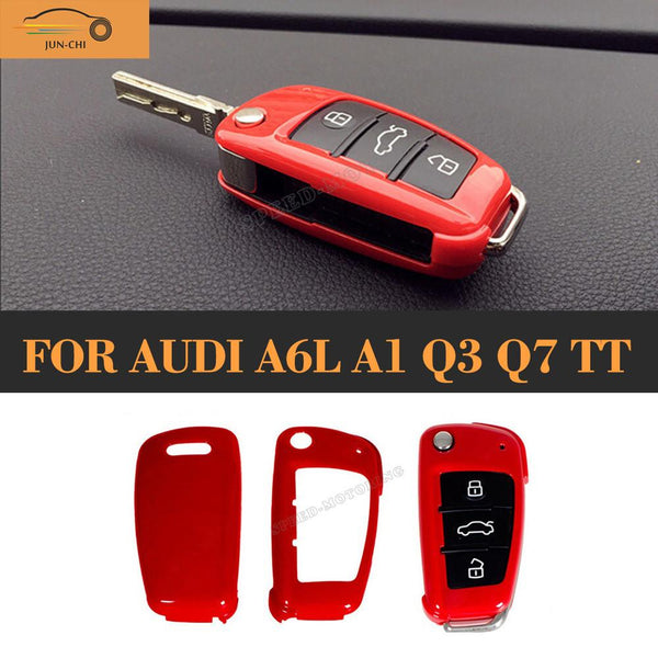 ABS Remote Car Key Shell Replacement Cover Case Trims for Audi A6L A1 Q3 Q7 TT R8 A3 S3